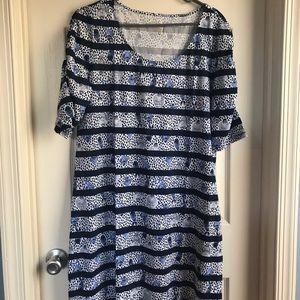 BNWOT LAJOLLA Dress in Heart and Sole stripe XL